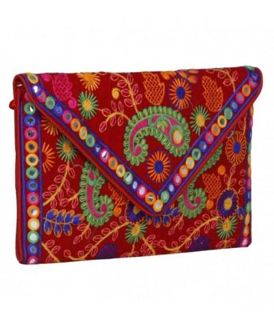 Evergreen Handmade Embroidered Purse Sling Bag Cross