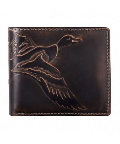 Co Bifold Hand Burnished Finish Mens Wallet Duck
