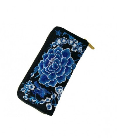 Characteristic Zipper National Embroidery Wallet