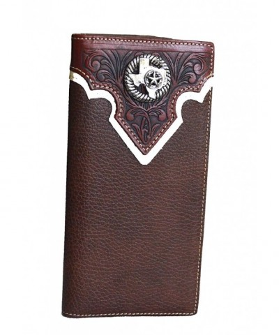 western concho leather bifold wallet