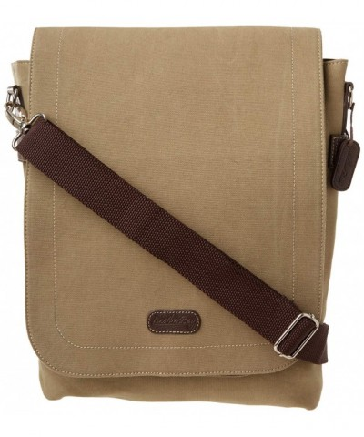Leatherbay Urban Hipster Messenger Stone
