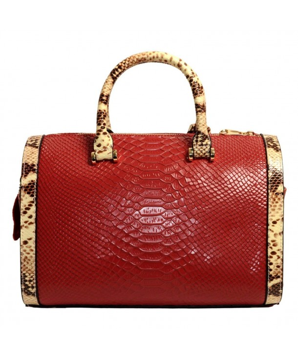 Mn Sue Satchel Crocodile Pattern
