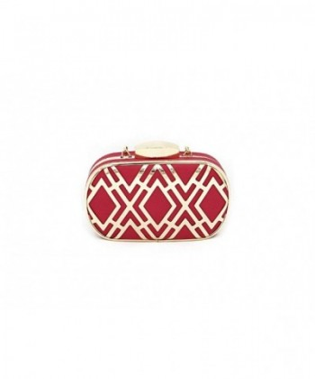 Colorful Metal Fretwork Overlay Clutch