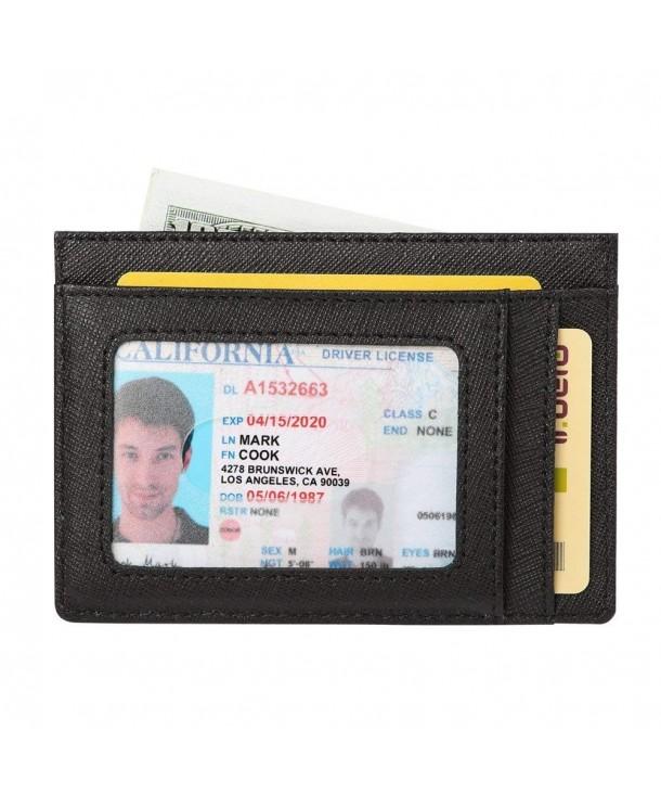Blocking Minimalist Holder Leather Pocket