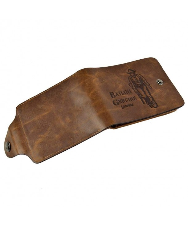 Leather Wallet Classic Bifold Pockets