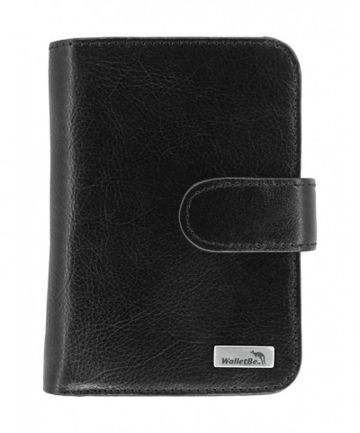 WalletBe Womens Leather Billfold Accordion