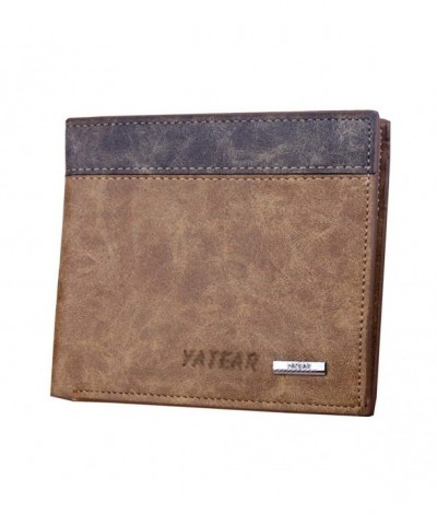 Donalworld Short Leather Wallet Khaki