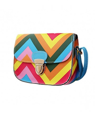 Voberry Women Rainbow Shoulder Messenger