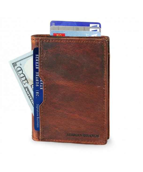 Wallets leather Blocking Minimalist Pocket
