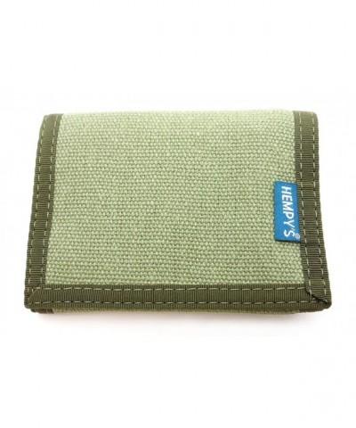 Hempys Hemp Tri fold Wallet Green