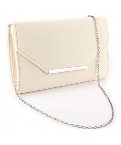 Anladia Velvet Envelope Handbag Structured