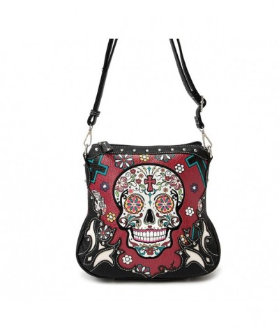 Sugar Skull Purse Concealed Pocket