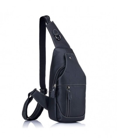 Leather Shoulder Backpack Rswsp KA012BL