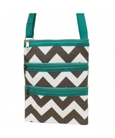 White Chevron Cross body Messenger Hipster