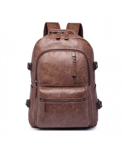 Leather Backpack Shoulder Camping Daypack
