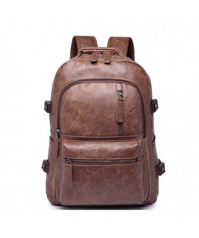 Leather Backpack Shoulder Camping Daypack