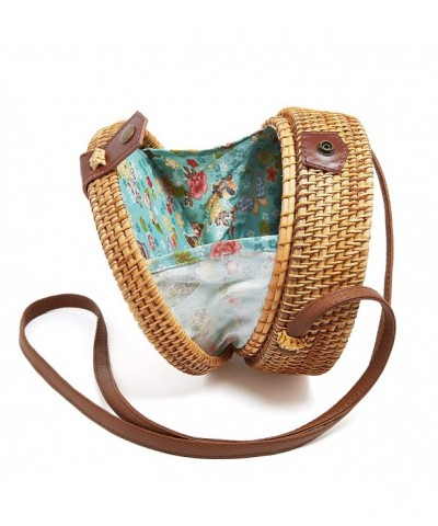 Handwoven Shoulder Leather Crossbody Handbag