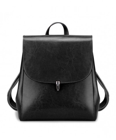 S ZONE Ladies Leather Backpack Casual