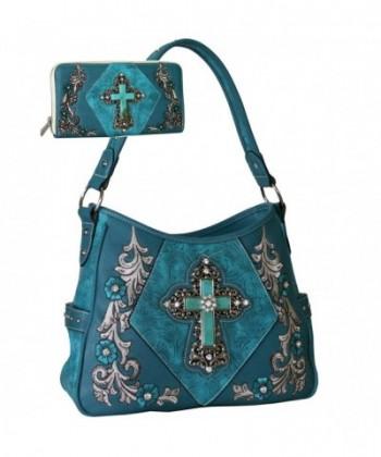 Western Rhinestone Embroidered Handbag Matching