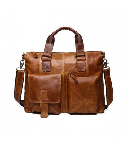 SEALINF Leather Shoulder Business Briefcase