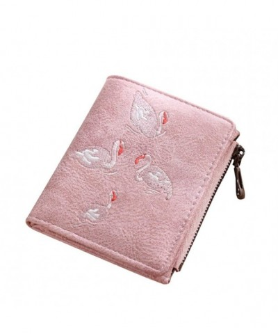 Kukoo Womens Leather Flamingo Embroidery