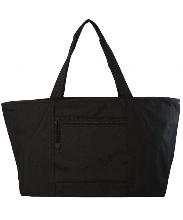 Large Poly Zippered Tote Bag