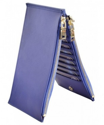 Outrip Womens Blocking Leather Bifold