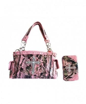mossy rhinestone cross purse wallet