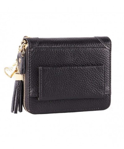 Womens Blocking Genuine Leather Wallet