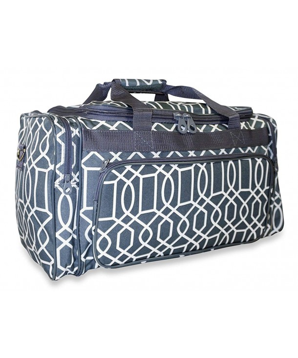 Ever Moda Geometric Duffle Bag