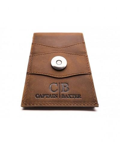 Mens Brown Minimalist Bifold Wallet