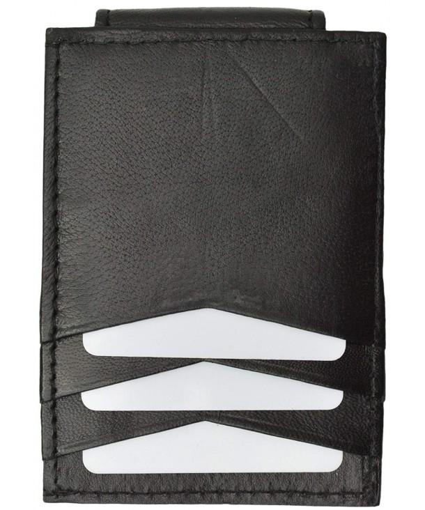Leather Money Clip Credit Holder
