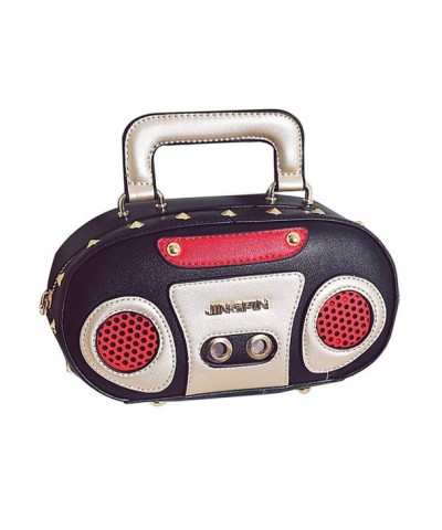 Leather Radio Crossbody Clutch HandBag