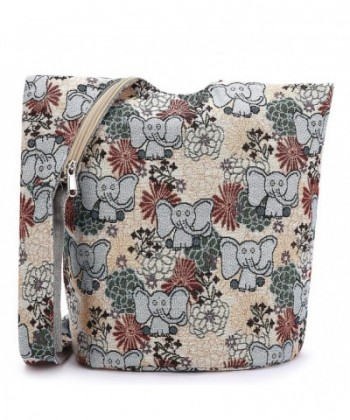 Women Hand Fashion canvas Crossbody Bags Cotton Bohemian Animal Prints boho Bags
