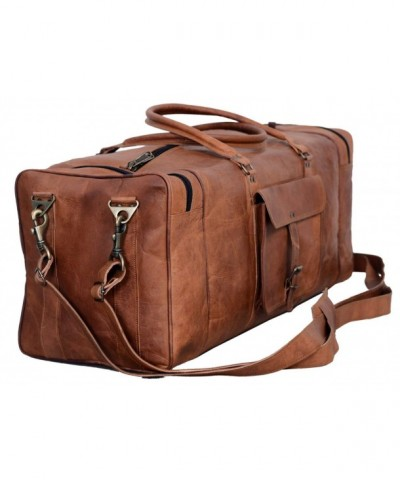 Leather Duffel Overnight Weekender Passion