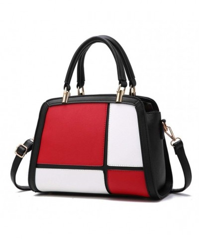 Fashion Contrast Stitching Handbag Shoulder