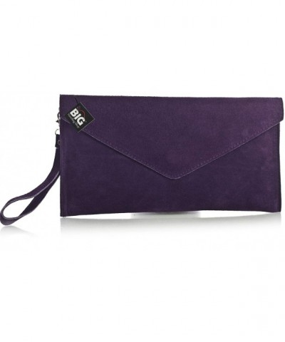 Handbag Italian Leather Envelope Clearance