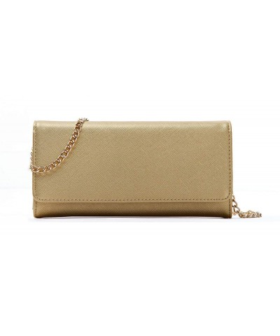 Womens Saffiano Bifold Clutch Wallet