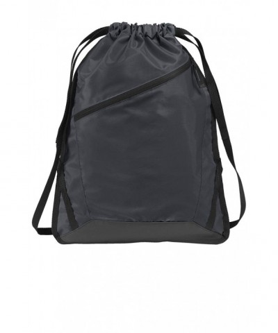 Drawstring Backpack Zippered Reinforced Training
