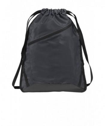Drawstring Backpack Zippered Reinforced Training