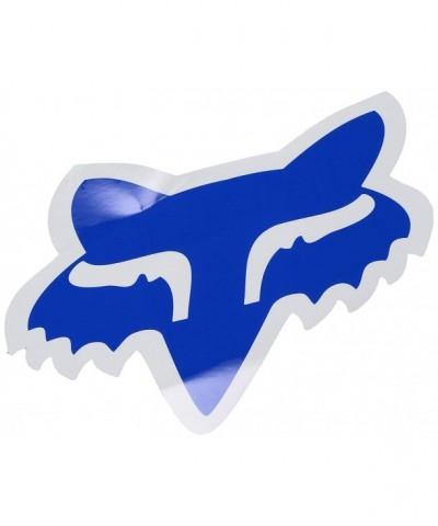 Fox Mens Head 7 Sticker Blue