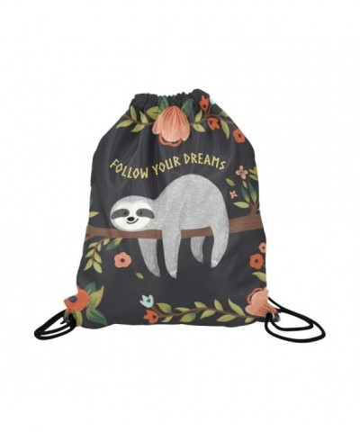 InterestPrint Follow Drawstring Backpack Daypack