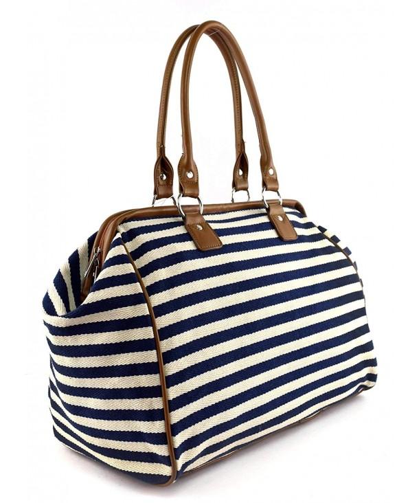 Classic Nautical Stripe Shoulder Handbag