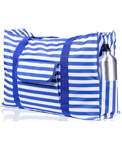 Waterproof Handles Outside Pockets Stripes