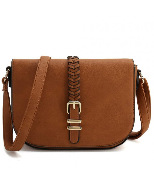 d3e2243a711a Casual Small Crossbody Saddle Bags for Women Shoulder Purse Designer  Handbags - Brown - CB18EEDQYO0
