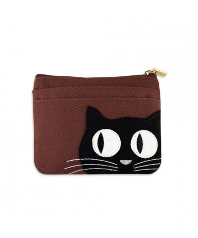 Zip Wallet Cat Applique Brick