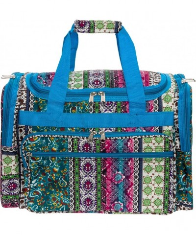 Womens Duffel Carry Bohemian Turquoise