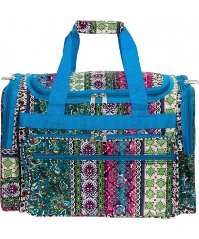 Womens Duffel Carry Bohemian Turquoise