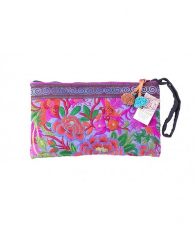 Purple Garden Tribal Clutch Embroidered