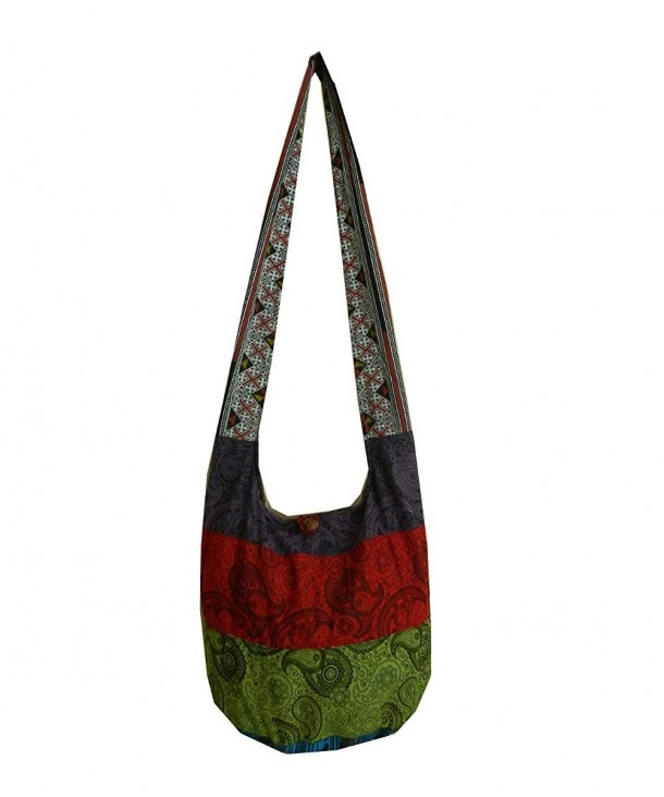 Cotton Crossbody Messenger Patchwork Paisley